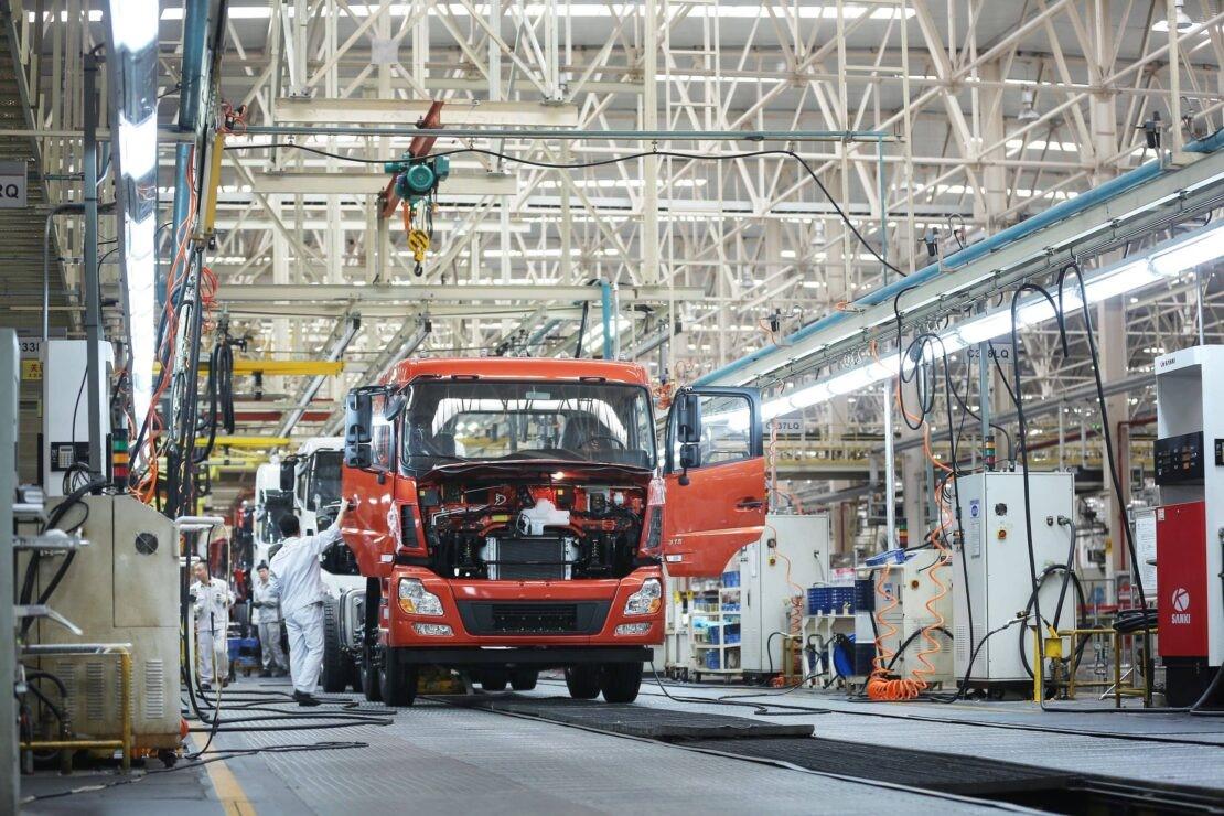 Dongfeng производство грузовиков