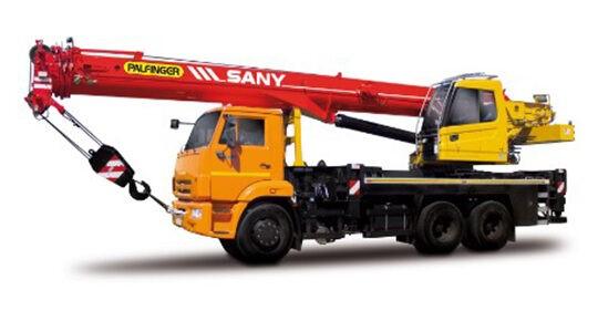 Автомобільний кран Palfinger Sany SPC 250 на шасі Dongfeng DFH 3330